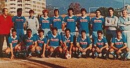 Ventura (a sinistra) allenatore dell'Entella Bacezza vincitore del Campionato Interregionale 1984-1985