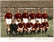 Gli Invincibili del Grande Torino, vincitori di 5 scudetti consecutivi.