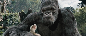 King Kong (Andy Serkis) nel film di Peter Jackson