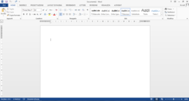 Screenshot di Microsoft Word