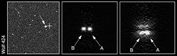 Immagine del sistema binario Wolf 424A/B