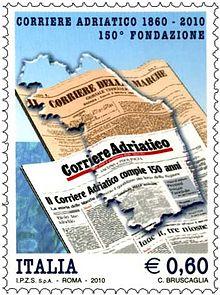 Il francobollo del 2010 dedicato al 150º anniversario di fondazione