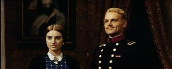 Nel ruolo del conte milanese Cavriaghi nel Gattopardo (1963) di Luchino Visconti, accanto a Lucilla Morlacchi.