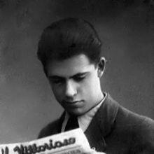 Jacovitti in un'immagine giovanile risalente al tempo della sua collaborazione a il Vittorioso