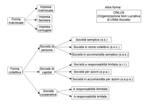 Tipologie d'impresa [ modifica | modifica sorgente ]