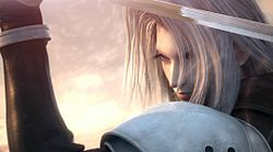 Sephiroth in Crisis Core: Final Fantasy VII
