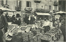 Un angolo del vecchio Verziere, nel 1920