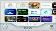 I Canali Wii nel menu principale della console