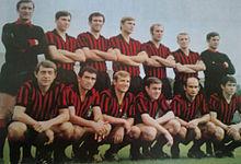 La squadra rossonera della stagione 1968-1969, terza classificata in Coppa Italia.