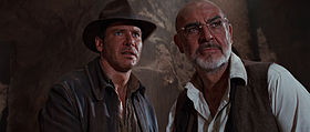 Harrison Ford e Sean Connery in una scena del film