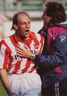 Domenico Di Carlo e Francesco Guidolin al Vicenza nella stagione 1994-1995.