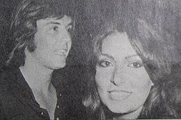 Panatta (a sinistra) nel 1973 con l'allora compagna Loredana Bertè