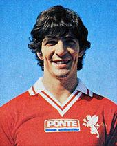 La maglia perugina del 1979-1980, che segnò l'esordio nel calcio italiano di uno sponsor sul petto.