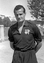 Guido Masetti, l'allenatore della storica promozione in Serie B nel 1946-1947.