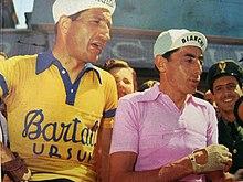 Gino Bartali (a sinistra) e Fausto Coppi, grandi rivali nel ciclismo dell'immediato dopoguerra