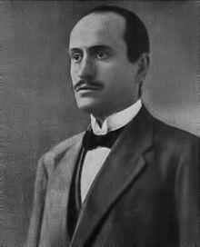 Mussolini nella veste di direttore dell'Avanti! (1912-1914), quotidiano del Partito Socialista Italiano