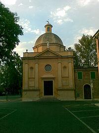 Oratorio della Madonna della Porta prima del terremoto del 2012