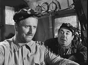 Pietro Germi e Saro Urzì ne Il ferroviere (1956)