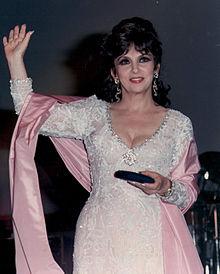 Gina Lollobrigida al Giffoni Film Festival del 1989