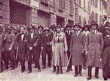 Manifestazione delle squadre d'azione a Roma.