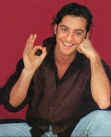 Fiorello alla presentazione dell'album Nuovamente falso nel 1992