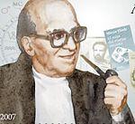 Ritratto di Mircea Eliade (1907-1986, particolare di un ritratto pubblicato su un francobollo moldavo).