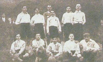 Una formazione della Lazio 1910-11.