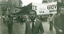 Buontempo ad una manifestazione del Fronte della Gioventù
