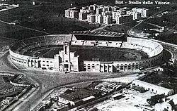 Foto storica aerea dello Stadio della Vittoria.