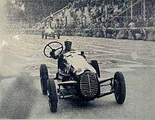 Torino, 3 settembre 1946, Coppa Andrea Brezzi. Nuvolari, su Cisitalia D46, conclude al 13º posto in 1h 25'57