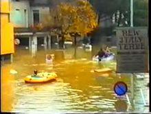 Via Soffici allagata, il 31 ottobre 1992