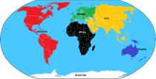 Continenti e colori olimpici.