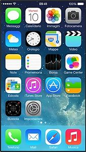 iOS 7 su IPhone 5S