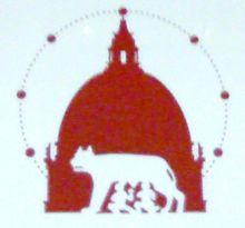 Il logo dell'Agenzia Romana per la Preparazione al Grande Giubileo dell'Anno 2000.
