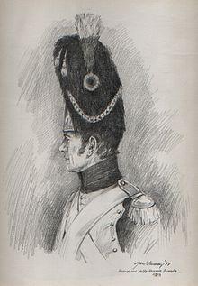 Marc Sardelli, Autoritratto in veste di granatiere della Vecchia Guardia Napoleonica, 1995