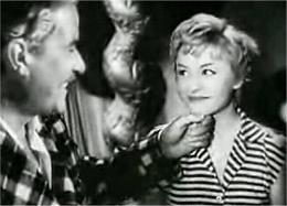 Amedeo Nazzari con Giulietta Masina nel film Le notti di Cabiria di Federico Fellini (1957)