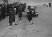 Anna Magnani nella celebre scena di Roma città aperta (1945) di Roberto Rossellini