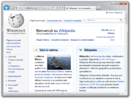 Screenshot di Internet Explorer 9 su Windows 7