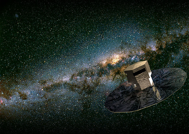 Interpretazione artistica del satellite Gaia dell'ESA. Foto ESA.