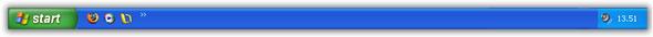 La barra delle applicazioni di Windows XP