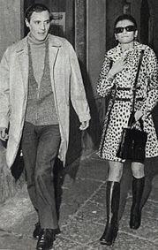 Milva e Mario Piave nel gennaio 1970, agli inizi della loro relazione