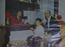 Tonina Torrielli con la famiglia nel 1972
