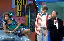 Beruschi negli anni ottanta, durante il programma comico Drive In, con Lory Del Santo ed Ezio Greggio.