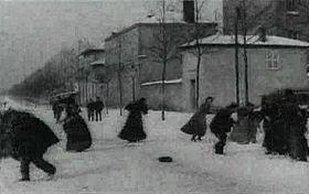 Battaglia con le palle di neve
