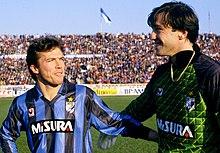 Zenga all'Inter assieme al compagno di squadra Matthäus nella stagione 1988-1989