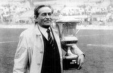 Rozzi con la Coppa Mitropa 1987