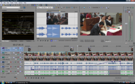 Screenshot di Sony Vegas