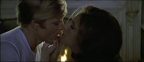 Robert Redford e Barbra Streisand in una scena del film