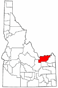 Map of Idaho highlighting Clark County.png