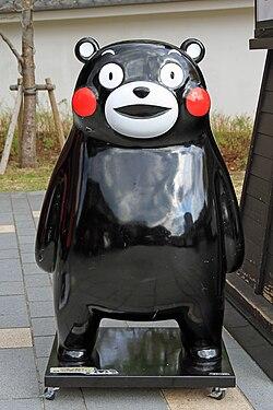 熊本城桜の馬場に所在するくまモンのフィギュア